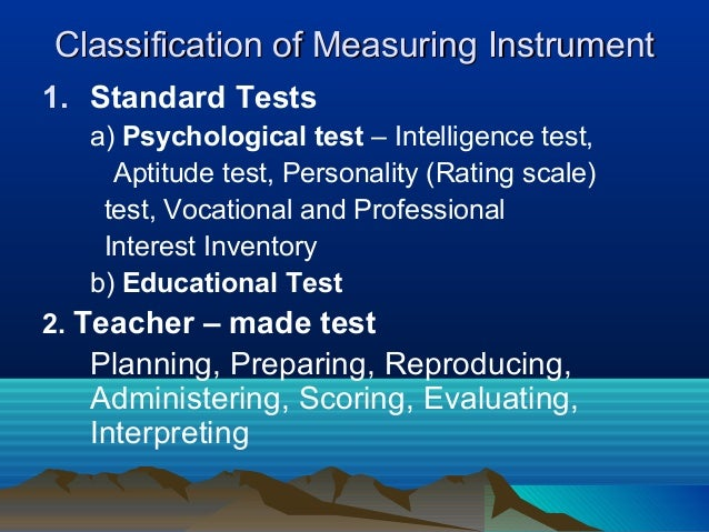 What Constitutes a Teacher-Made Test?