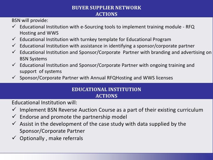Receive a practical perspective of the buying process from BSN and the participating sponsor/corporate partner