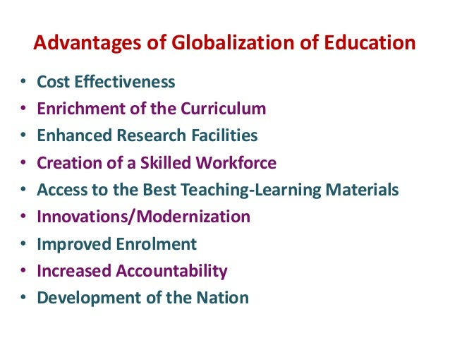 advantages of globalization in education