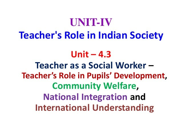 Role of a Teacher in a Society