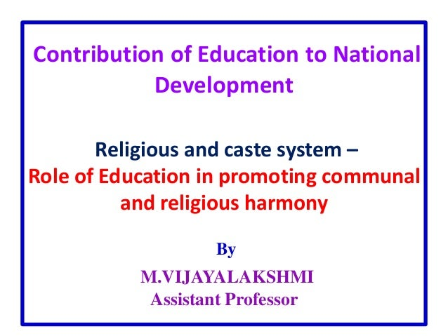 role of education in national development