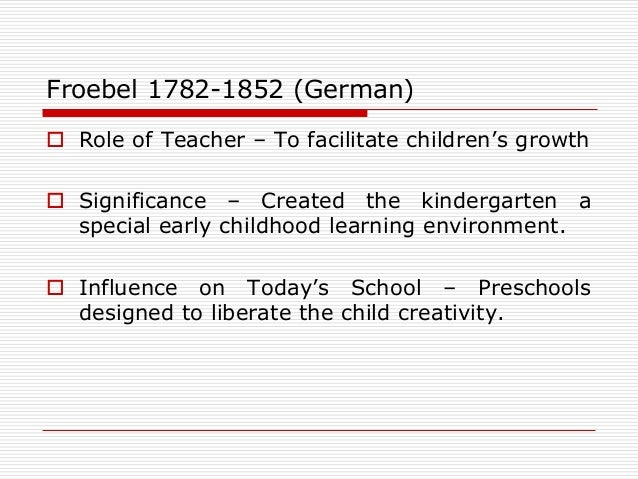 Role of the teacher in facilitating growth and development in a child