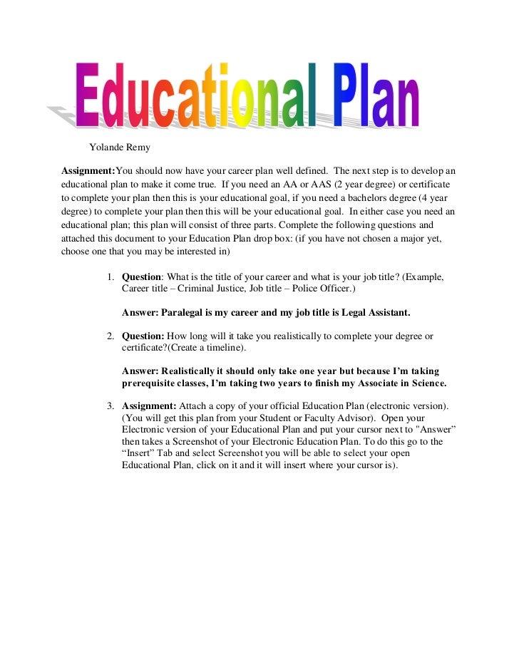Educational Plan
