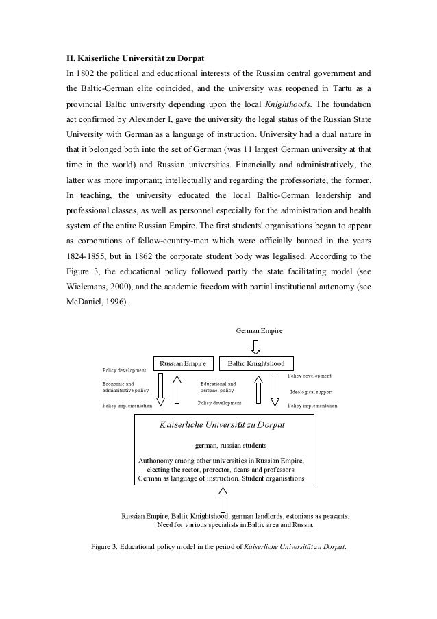 II. Kaiserliche Universität zu Dorpat In 1802 the political and educational interests of the Russian central government an...