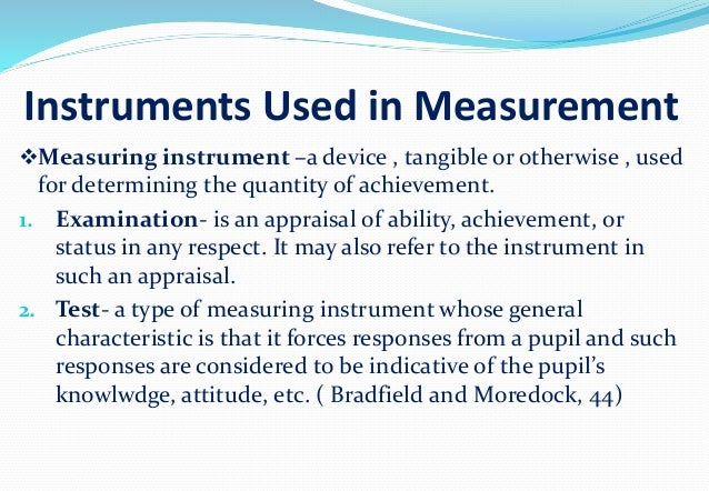 Their Names And Instruments For Measuring Area : Educational psychology test and measurement