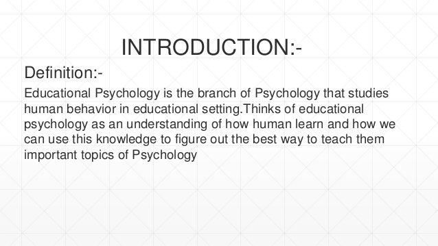 educational psychology topics for presentation