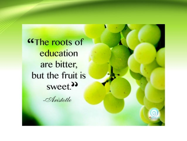 the root of education is bitter but the fruit is sweet