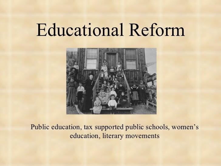 Educational reform (1790 - 1860)