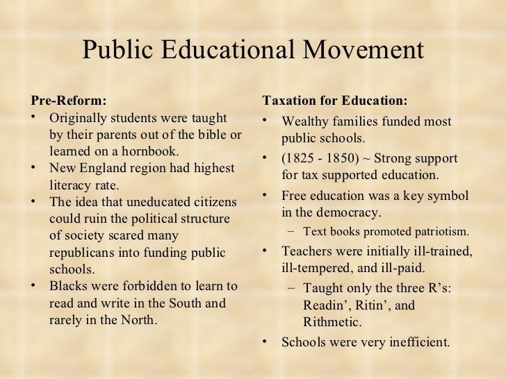 educational reform ideas