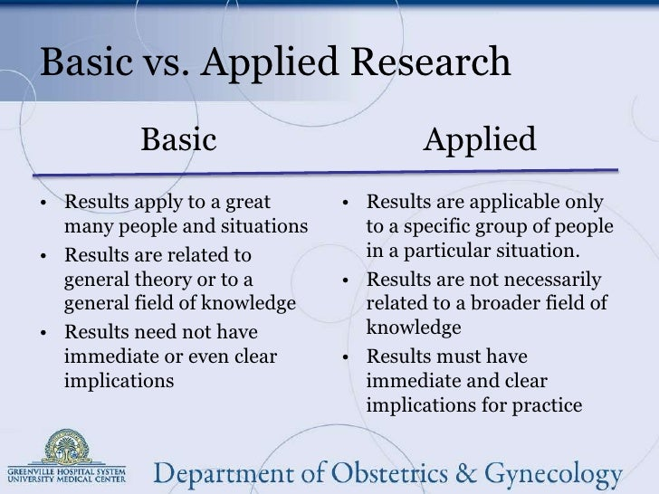 Basic Research and Applied Research ... - Study.com