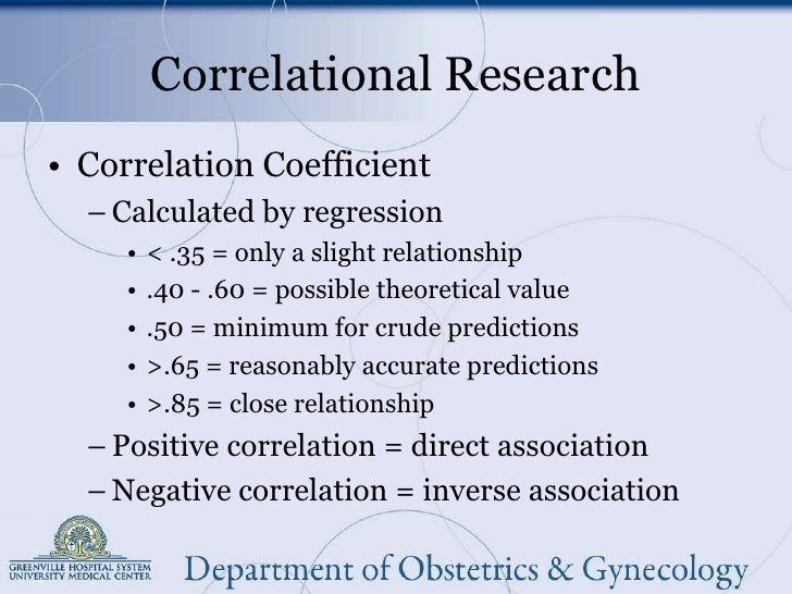 Correlational study control group