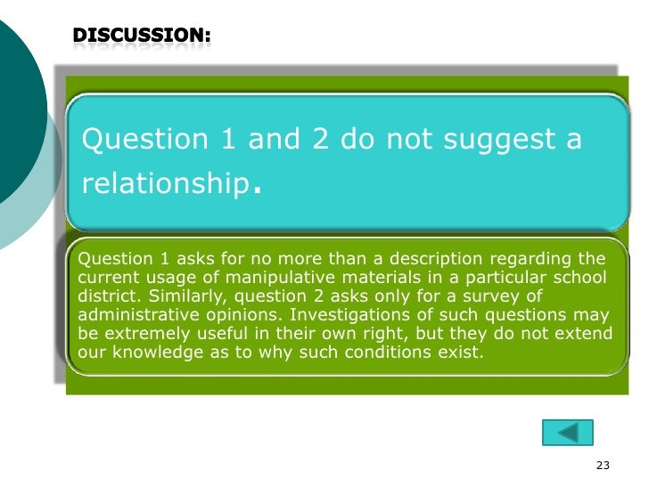 Question 1 and 2 do not suggest arelationship.Question 1 asks for no more than a description regarding thecurrent usage of...