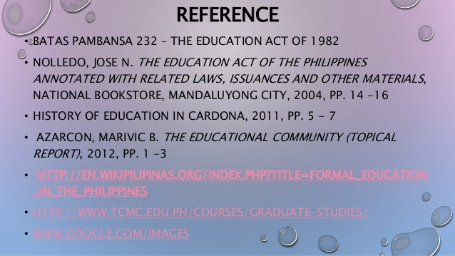 educational change in the philippines The existing literature, whether in economics or in education science, has focused  in order to obtain an estimate of how earnings will change for any.