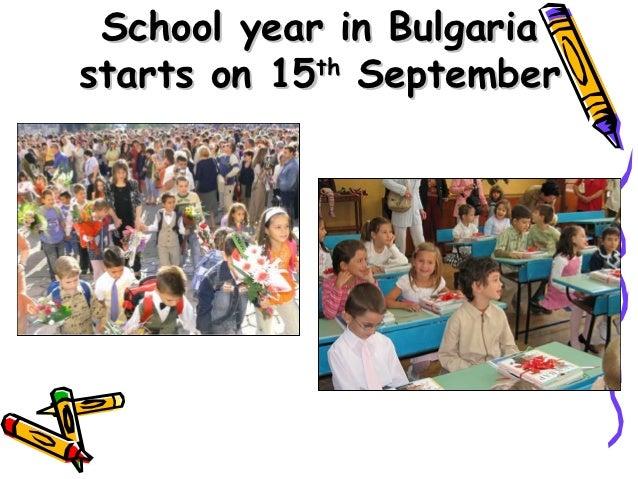 School year in Bulgariastarts on 15th September