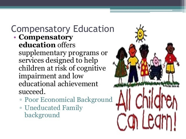 examples of compensatory education programs