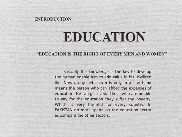 Education and poverty in pakistan Slide 3