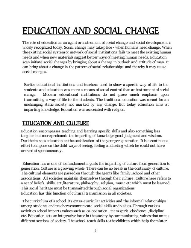 function of education essay 1 the definition of education education is defined as the process of educating and learning, which involves the teacher and the student the teacher will convey the message to the student, and the student will try to.