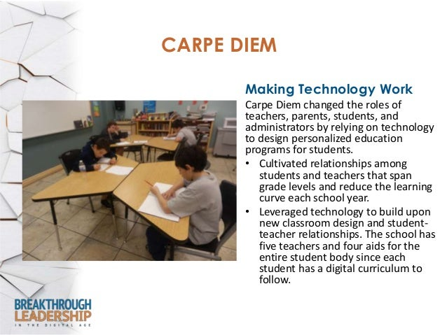 Results • In 2011-12, Carpe Diem ranked among Arizona's 10 highest-performing charter schools. • It has outperformed Arizo...