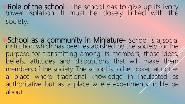 School is a miniature society-essay