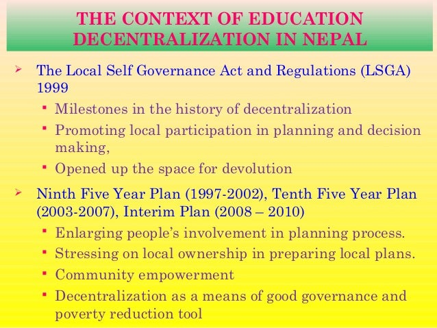 proposal for the decentralization of public 1 good governance and decentralization in nepal dev raj dahal hari uprety phanindra subba gds center for governance and development studies in cooperation with friedrich-ebert-stiftung.