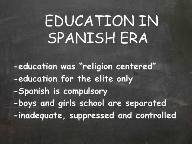 pre spanish period education system