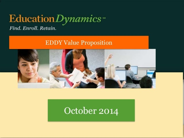 EDDY Value Proposition  October 2014  CONFIDENTIAL INFORMATION OF EDUCATIONDYNAMICS, LLC