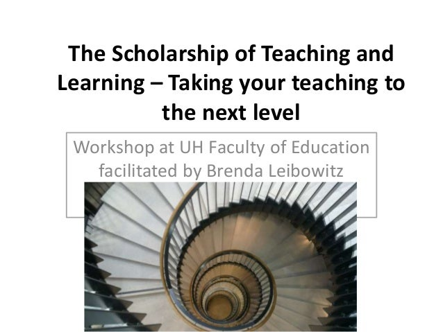 The Scholarship of Teaching and Learning – Taking your teaching to the next level Workshop at UH Faculty of Education faci...