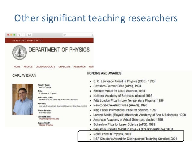 Other significant teaching researchers