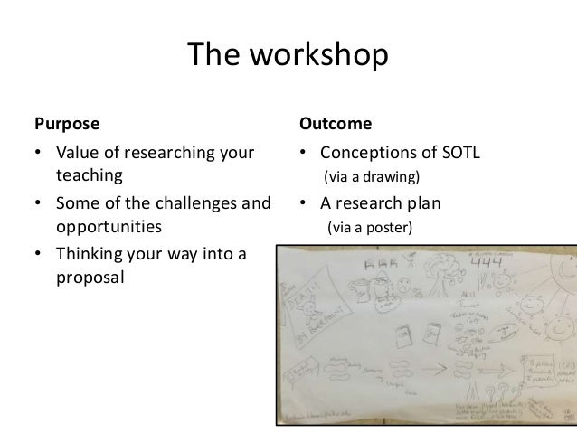 The workshop Purpose • Value of researching your teaching • Some of the challenges and opportunities • Thinking your way i...