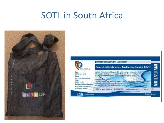 SOTL in the South University of Johannesburg 24 – 26 July 2017
