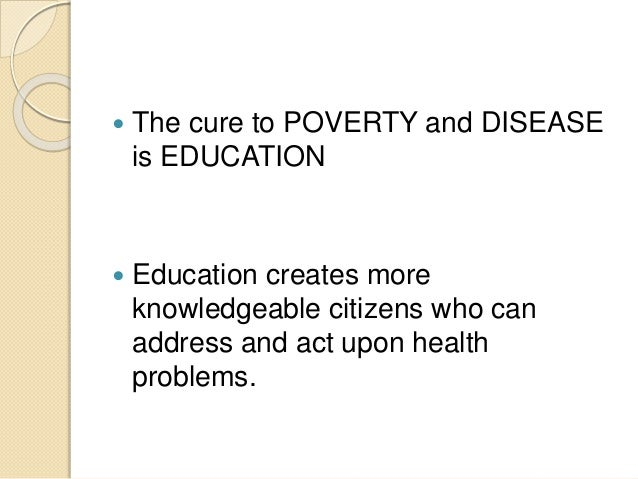 Can Education solve poverty?