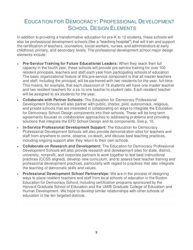 Education For Democracy Professional Development Proposal