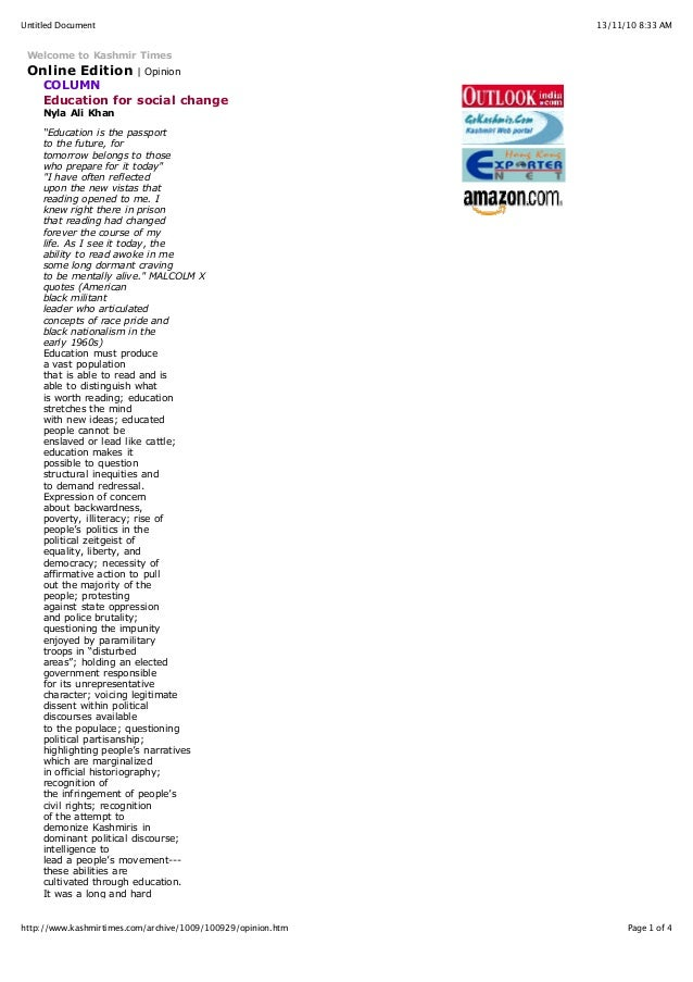 13/11/10 8:33 AMUntitled Document Page 1 of 4http://www.kashmirtimes.com/archive/1009/100929/opinion.htm Welcome to Kashmi...