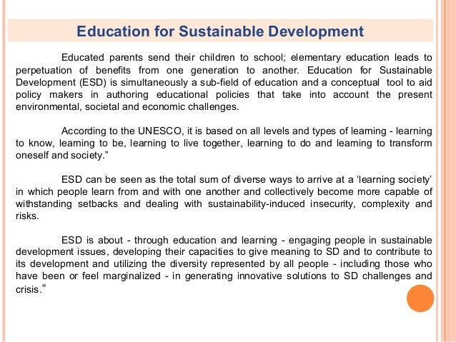 education and development Gaia education is a leading-edge provider of sustainability education that promotes thriving communities within planetary boundaries.