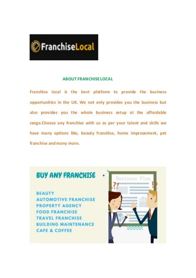 Travel franchise uk