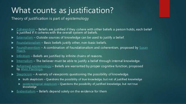 epistemology foundational internalism Third-person internalism: a critical examination of externalism and a foundation-oriented alternative foundation-oriented epistemology in sect 2.