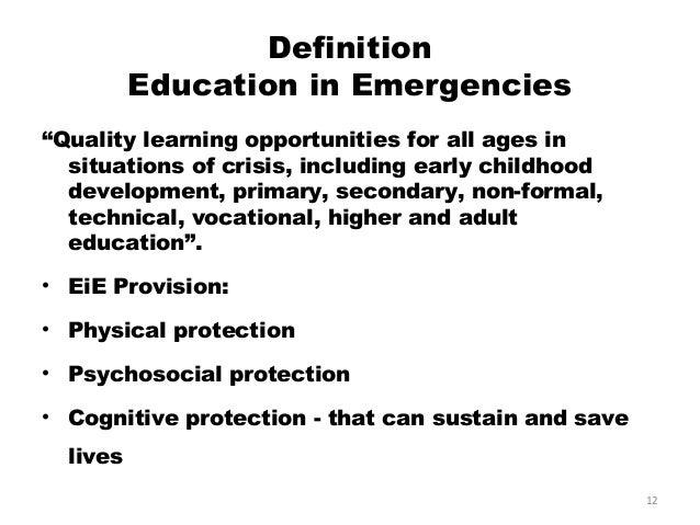 Education in emergencies Kenya