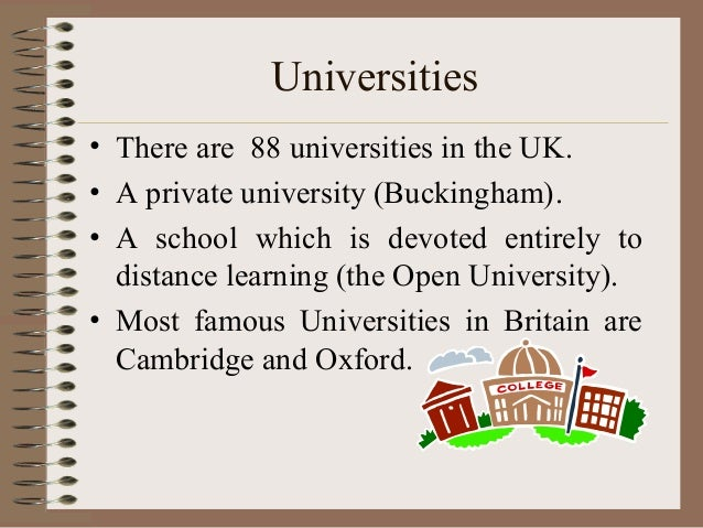 education in great britain Education in britain is compulsory between the ages of 5 and 16 over 90 % of all schoolchildren attend state schools, which are free besides this state systém of.