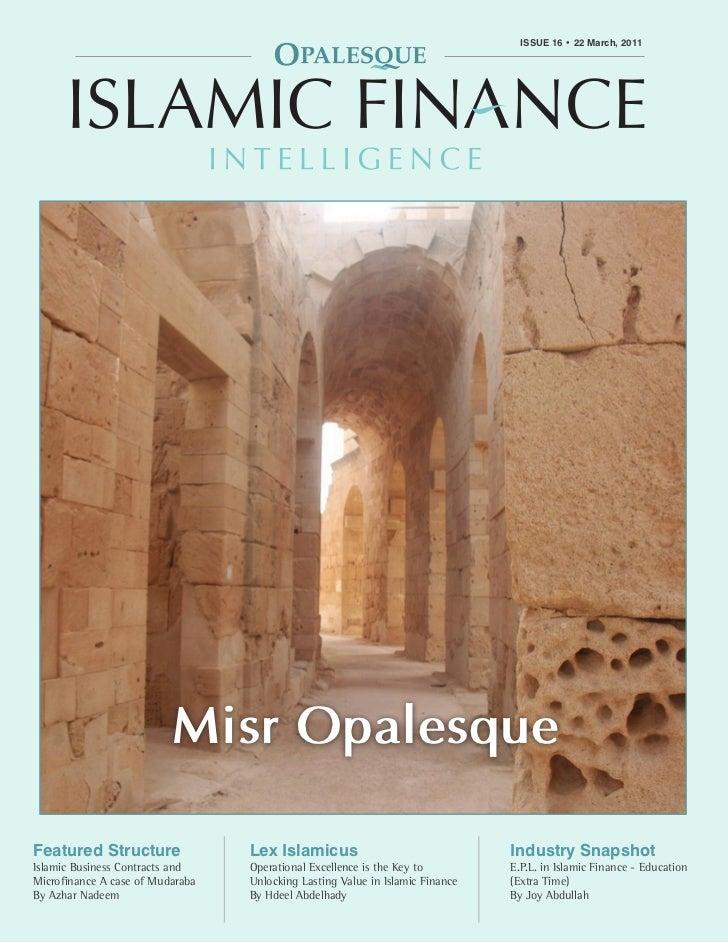 OPALESQUE ISLAMIC FINANCE INTELLIGENCE                                                                   ISSUE 16 • 22 Mar...