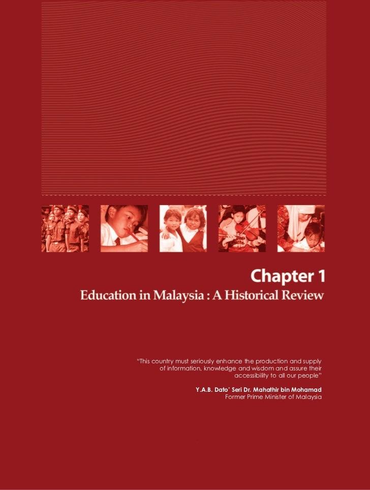 Malaysian education system development and change