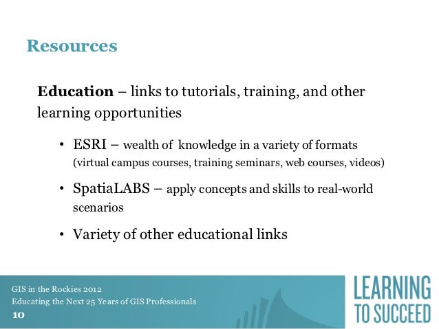 2012 Education Track, Developing an Online Geospatial Learning Lab, M…