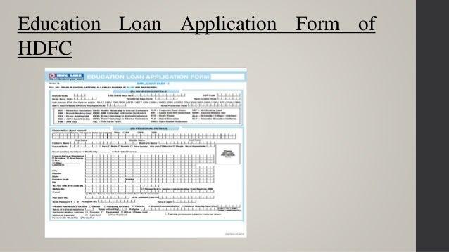 Education loan – Students Loan Application Form