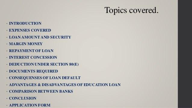 Unsecured Loan Definition >> Education loan