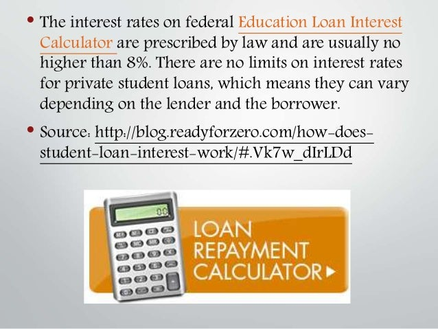 Education Loan Interest Calculator  How Does Student Loan Interest W