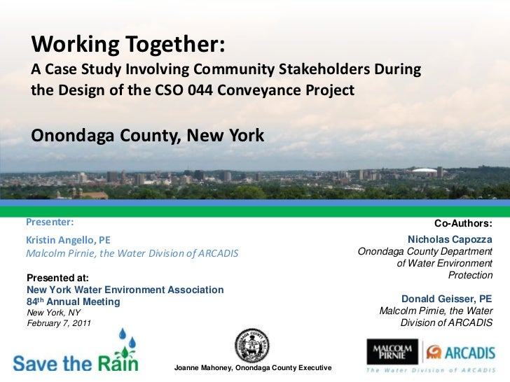 Working Together: A Case Study Involving Community Stakeholders During the Design of the CSO 044 Conveyance Project Ononda...