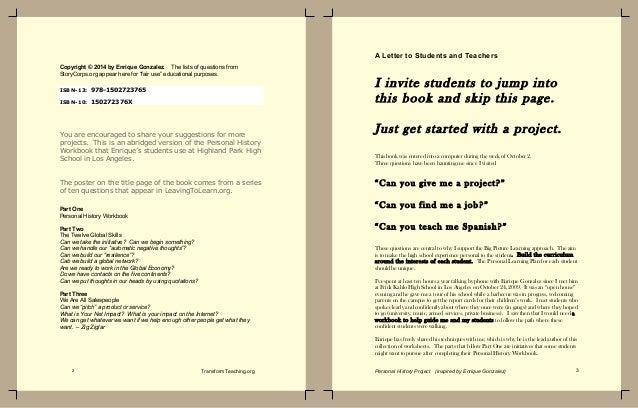 Education personal history ebook by Enrique Gonzalez, former principal Slide 2