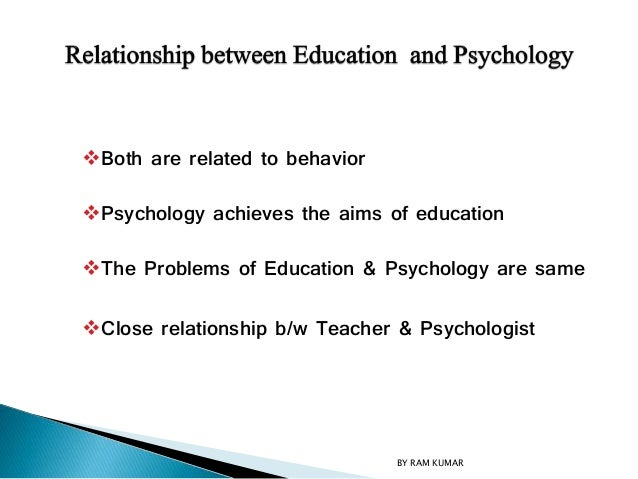 relationship between psychology and curriculum