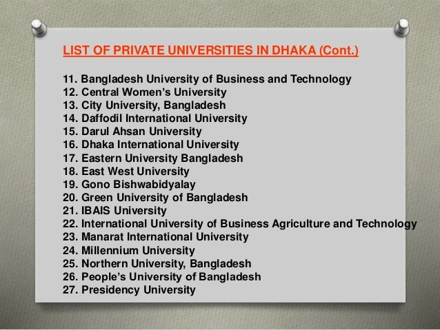 Education Sector of Bangladesh