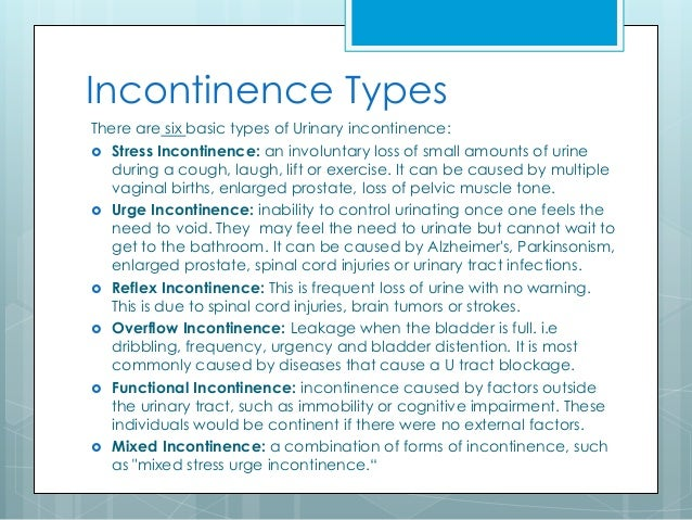 Education Series Reference Guide To Incontinence