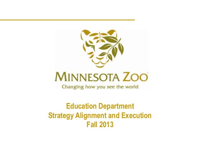 Education DepartmentStrategy Alignment and Execution             Fall 2013